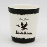High Quality Fine Bone China White Shot Cup (Eagle Design)