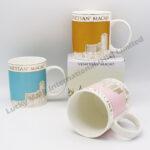 High Quality Fine Bone China White 11oz Coffee Mug (Customer Real Gold Design)