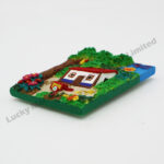 Polyresin Costa Rica Rural Area Magnet (Customer Design)