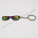 Tie Dye Zinc Alloy Glasses Keychain (Customer Design)