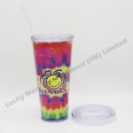 Tie Dye Plastic Straw Cup (Customer Design)