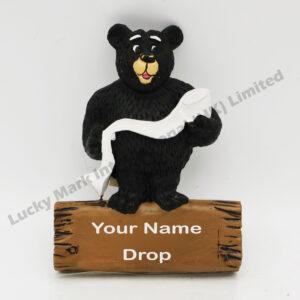Polyresin Playing Black Bear Magnet