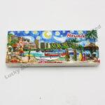 Polyresin Watercolor Hawaii Color Digital Printing Magnet (Customer Design)