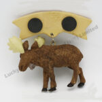 Polyresin Moose Tag Magnet