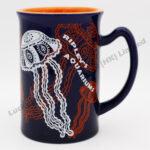 Stoneware Jellyfish Embossed Design Mug