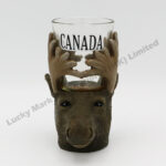 Polyresin Moose Canada Head Shot Glass