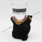Polyresin Black Bear Open Mouth Shot Glass