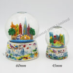 Porcelain Base Snow Globe Set