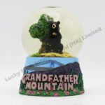 Polyresin 60mm Snow Globe Black Bear (Customer Design)