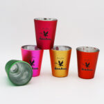 Outside Color Electroplated Shot Glass Set