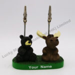 Polyresin Black Bear Moose Note Clip