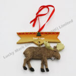 Polyresin Moose Tag Ornament