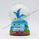 Polyresin 45mm Snow Globe Florida Dolphins