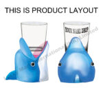 Polyresin Dolphin Open Mouth Shot Glass