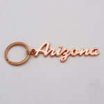 Zinc Alloy Rose Gold Name Drop Keychain