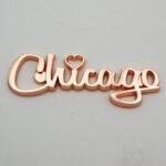 Zinc Alloy Rose Gold Name Drop Magnet