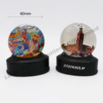 Polyresin Base Flat Shape Snow Globe 60mm
