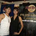 Jonny Blu and Rosemary at Hong Kong Hard Rock Cafe