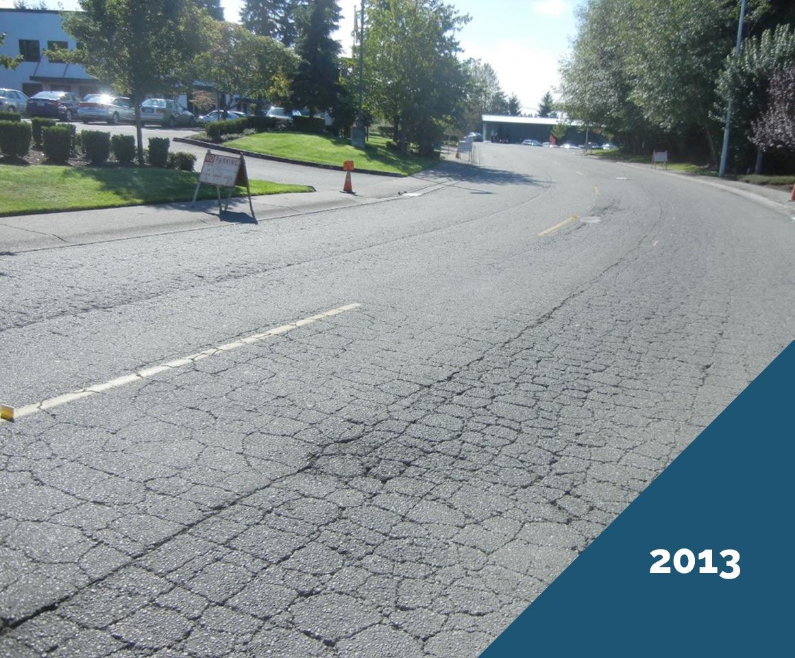 Doolittle Chip Seal - Mukilteo, 47th Ave. W - 2013, before Chip Seal