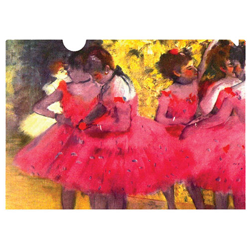 a letter-sized folder with Degas' stunning portrait of the ballet dancers waiting in the wing. a lovely gift for dancers and Degas lovers.