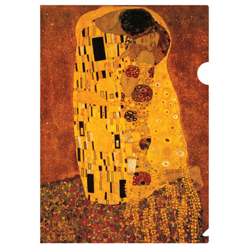 a letter-sized folder with Gustav Klimt's The Kiss (c 1907) it is arguably one of Gustav Klimt's best paintings as well as his best known, deserving inclusion in our Classic Collection.