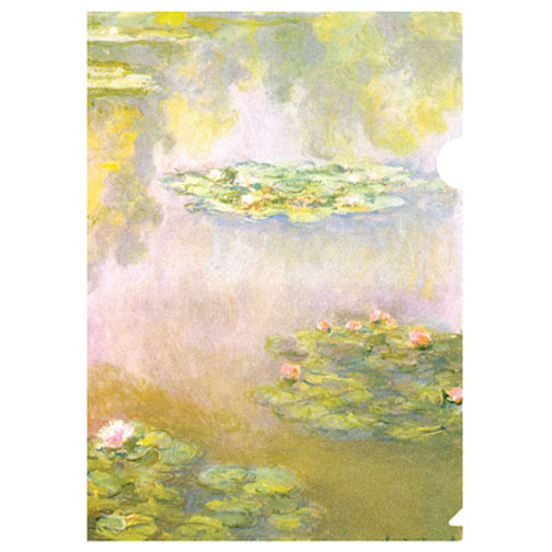 Monet's waterlilies on one of our letter-sized folders, this is how we pay homage to one of the most beloved impressionist artists in the 20th century.