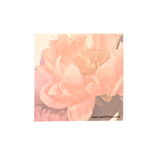 Beautiful Peony image as the background for this lovely Sticky Note Pad.  Photographic image captured by Robert S. Porter, M.D. in his studio in Chadds Ford, PA.