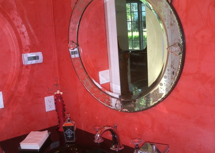venetian plaster powder room 2-min
