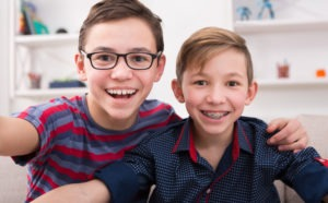 Brothers smiling for a photo