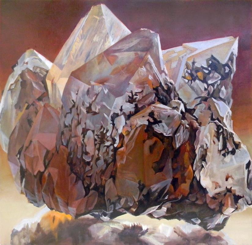 """Shawagunk Krystallaos to Kokkino"" by Andrea Kantrowitz, oil on canvas, 30x30, courtesy The Painting Center"