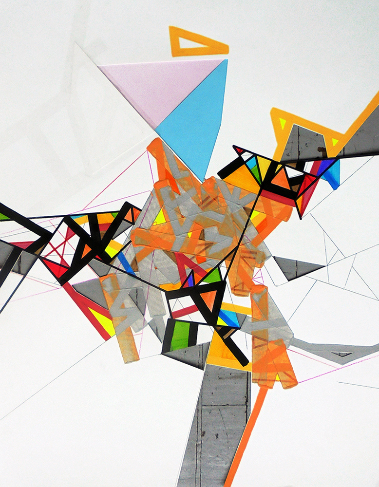 """Ossoryi 4"" by Philippe Halaburda, acrylic on paper, 26x20"