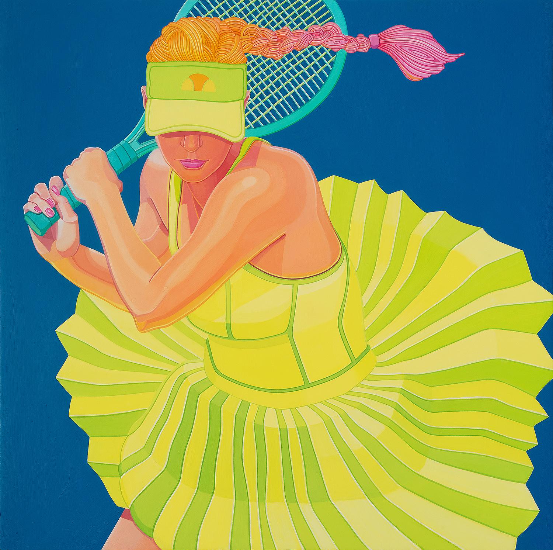 """The Sweetspot III"" by Jennifer Watson, oil on panel, 20x16"