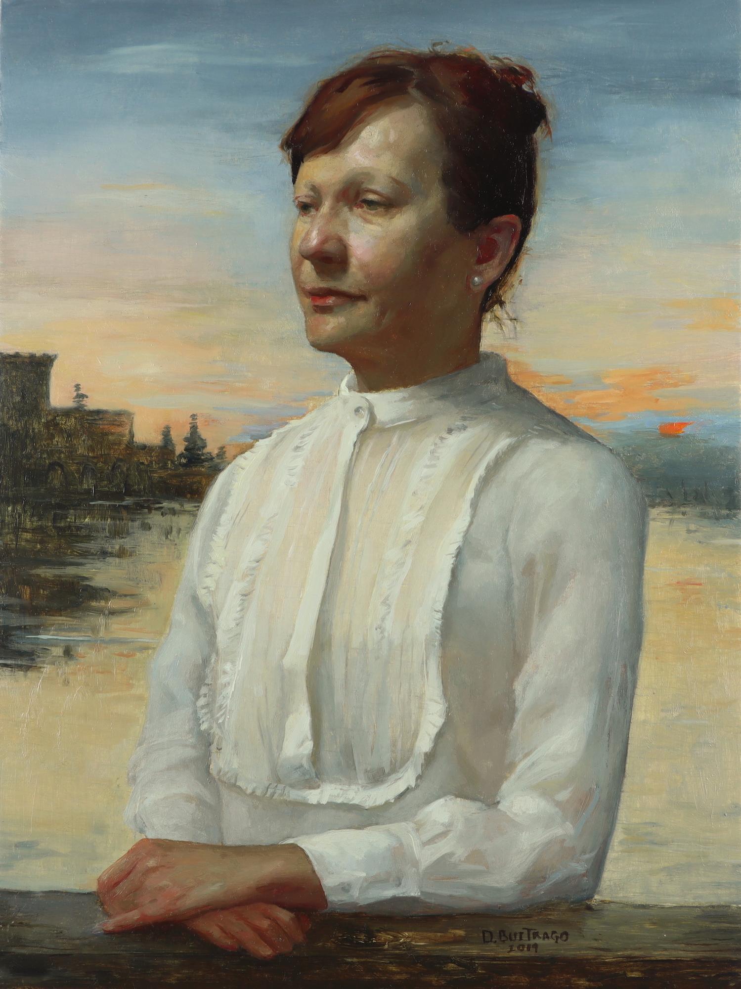 """""""Marina"""" by Diana Buitrago, oil on panel, 12 x 9"""