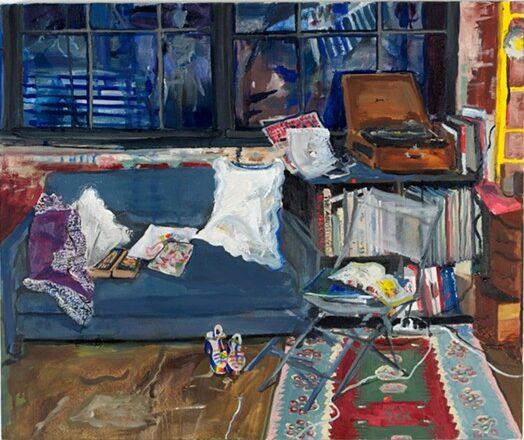 """Meadow Street At Night"" by Michele Mirisola, oil on canvas, 20x24, courtesy Steven Harvey Fine Art Projects"