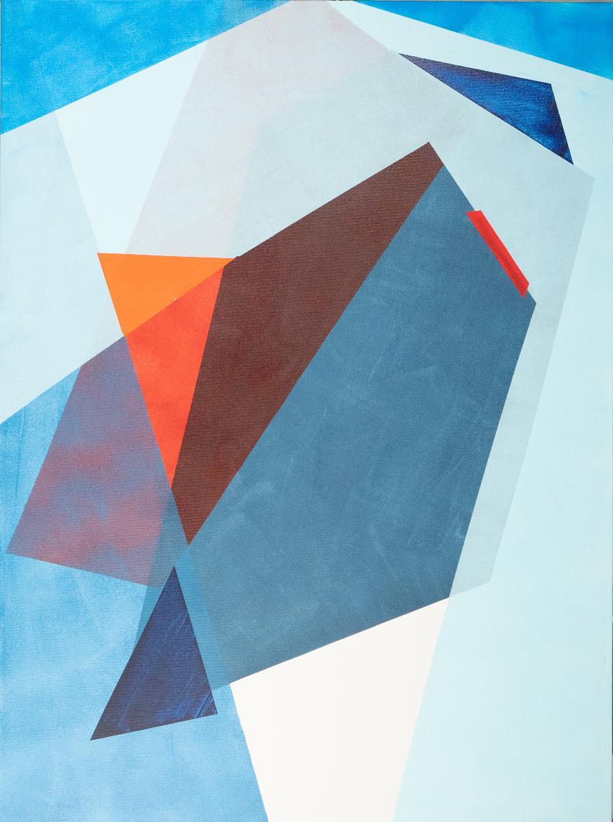 """""""Tilted Orbit"""" by Lisa Petker-Mintz, acrylic on canvas, 40x30"""