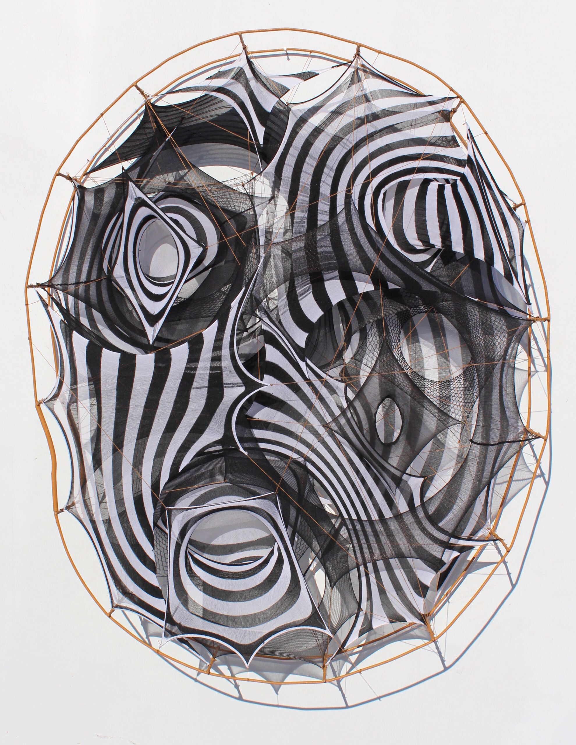 """""""Ripple Effect by Katie Truk, wire and pantyhose, 19x19x6, courtesy Co11ective"""