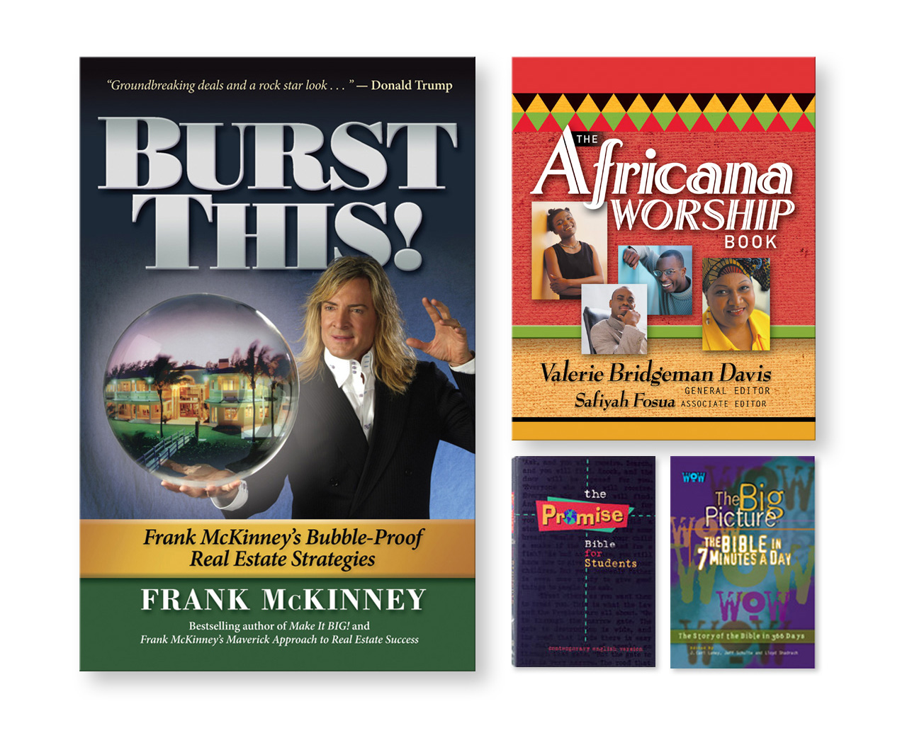 Burst This! by Frank McKinney and religious book and bible designs
