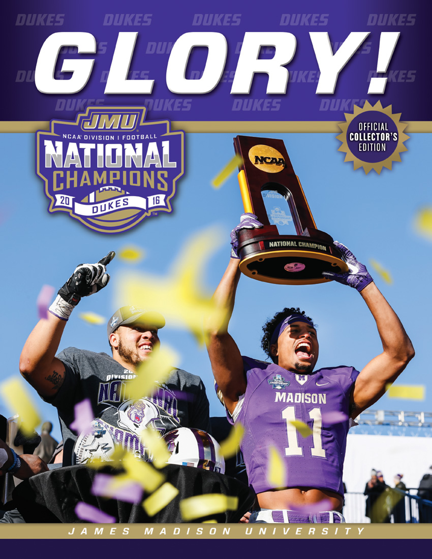 JMU Football Champions magazine cover