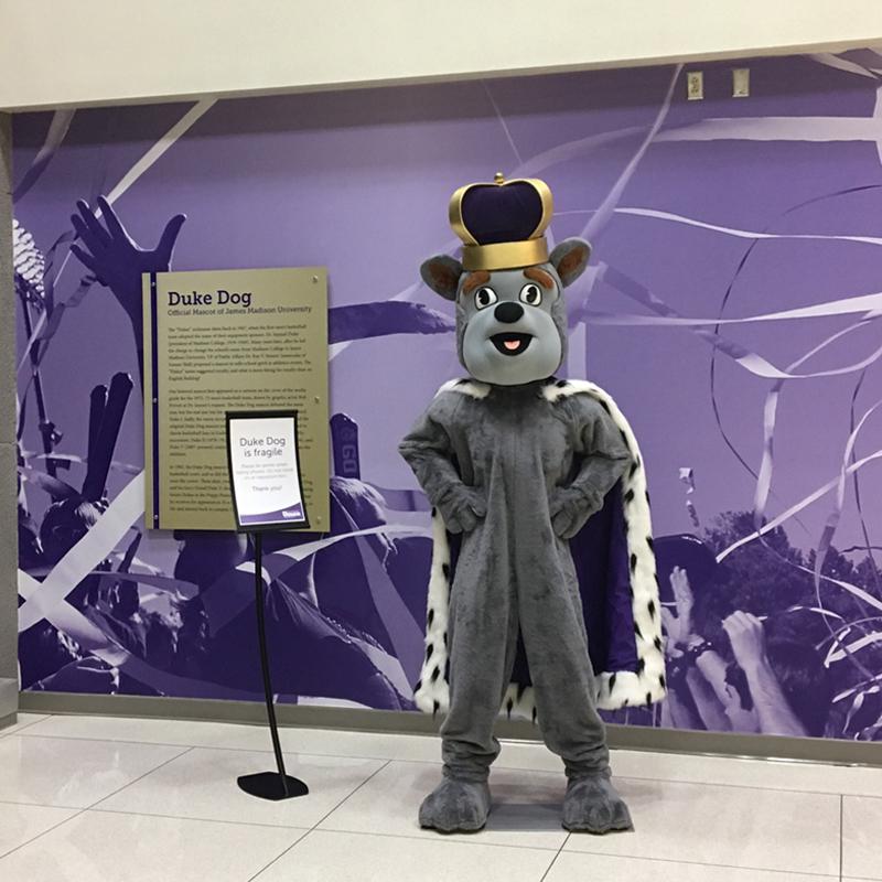 Duke Dog selfie station