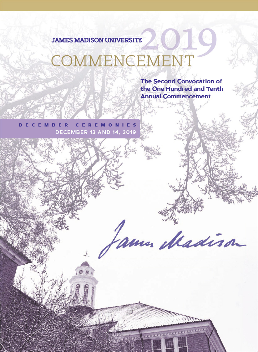 JMU December 2019 Commencement Program Cover
