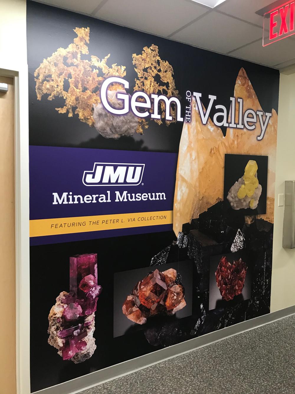 JMU Mineral Museum signage