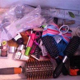 Vanity drawer before