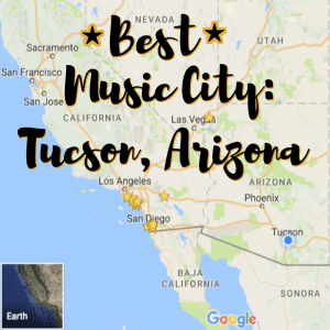 Tucson ranked best music city in USA