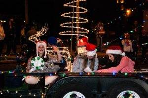 Floats in Downtown Tucson Parade of Lights