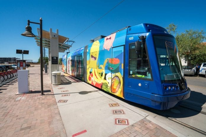 Streetcar at the Mercado & MSA Annex near Downtown Tucson AZ