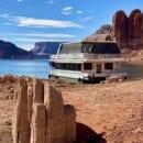 Houseboat we rented at Lake Powell