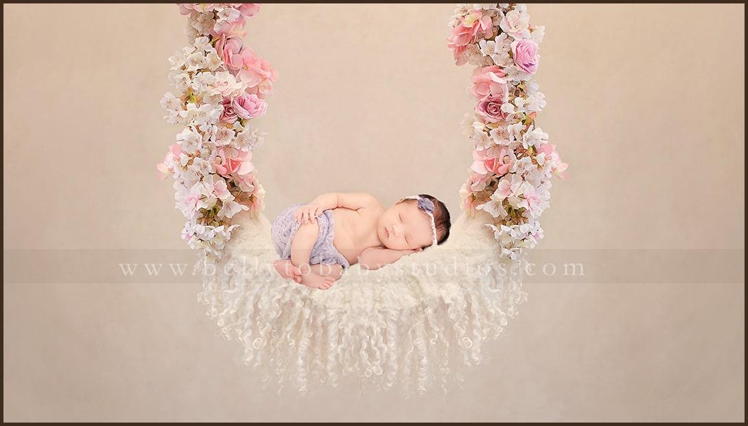 Houston Floral Newborn Photography