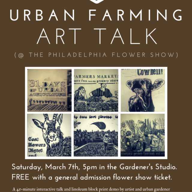 Urban farming art talk
