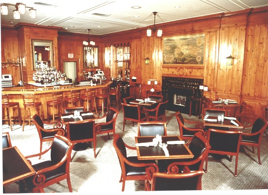 Historic pic of Pine Room Pub before it was destroyed by TVs