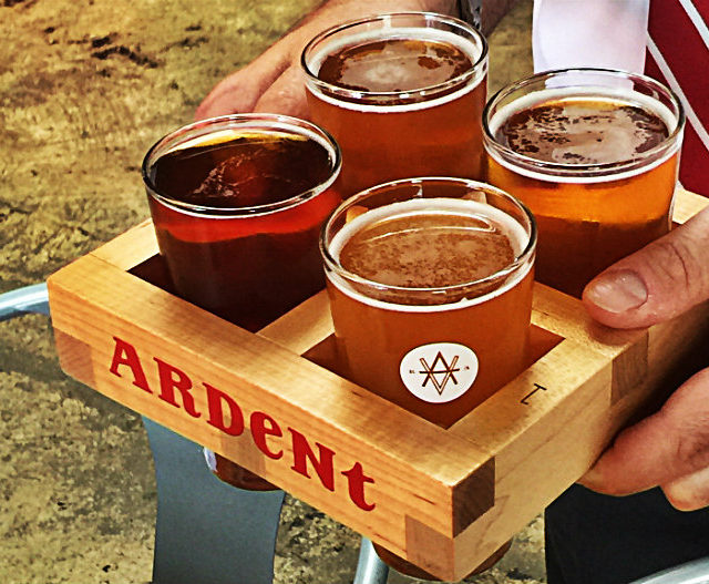 Pick four flight at Ardent Craft Ales